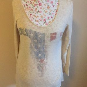 Texas longhorn tunic - tan -L